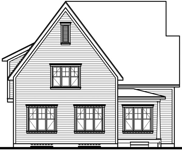 Country European Traditional House Plan 65486 Rear Elevation