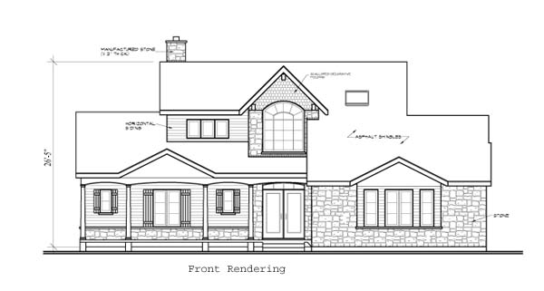 Country Victorian House Plan 65488 Rear Elevation
