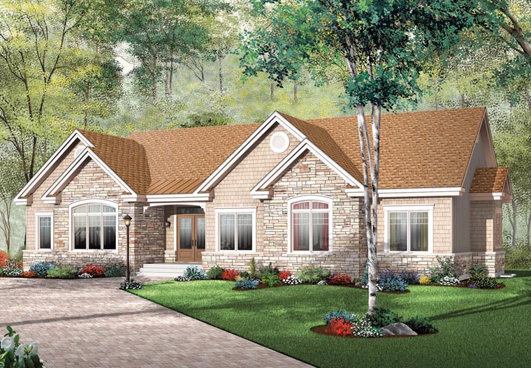 Bungalow Ranch House Plan 65493 Elevation