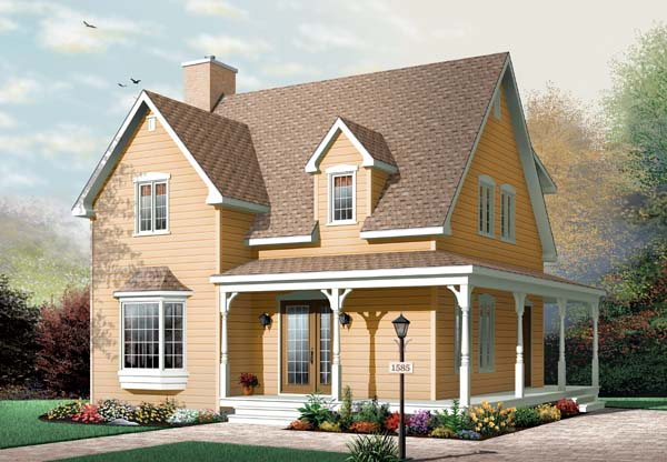 Country Traditional House Plan 65496 Elevation