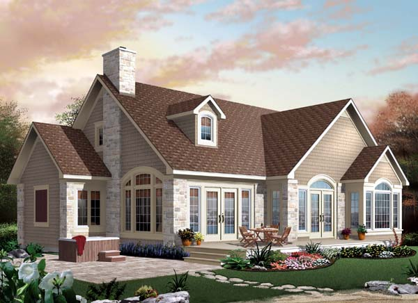 Elevation of Country   Traditional   House Plan 65499