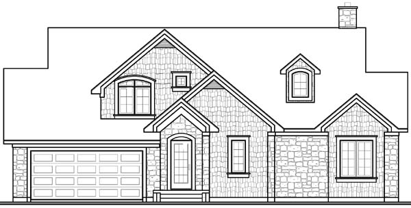 Rear Elevation of Country   Traditional   House Plan 65499