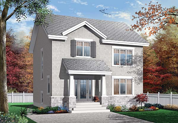 Country Craftsman House Plan 65503 Elevation