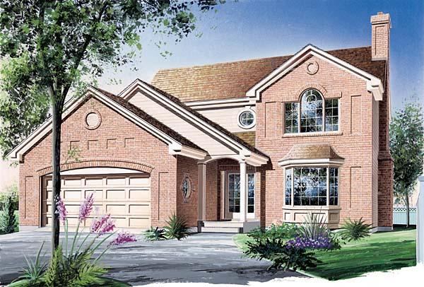 European Traditional House Plan 65511 Elevation