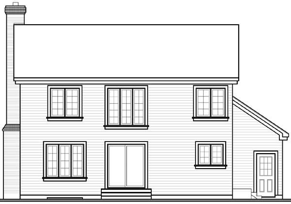 European Traditional House Plan 65511 Rear Elevation