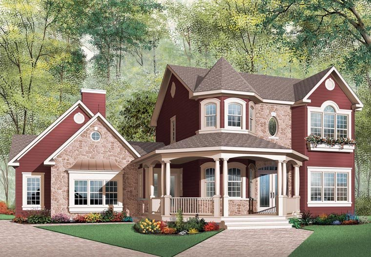 Country European Victorian House Plan 65514 Elevation