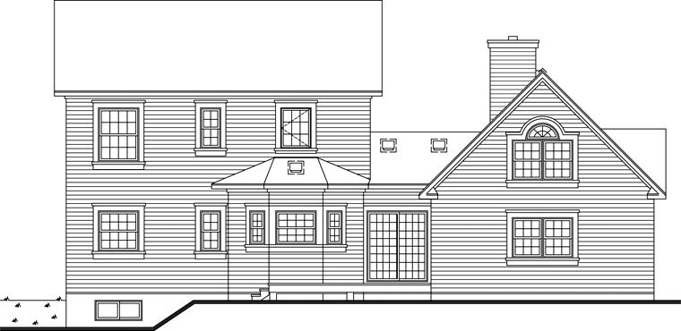Country European Victorian House Plan 65514 Rear Elevation