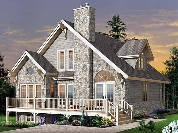 Country, Craftsman, European House Plan 65519 with 3 Beds, 2 Baths Elevation