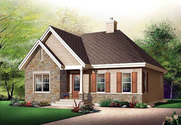 Bungalow Country House Plan 65521 Elevation