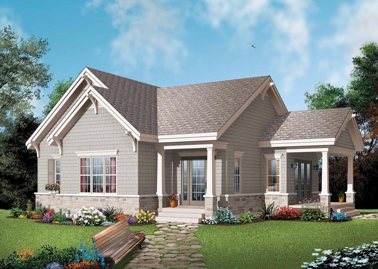 Bungalow Country Craftsman House Plan 65524 Elevation