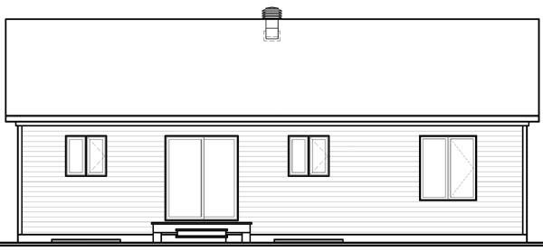 Bungalow House Plan 65535 Rear Elevation