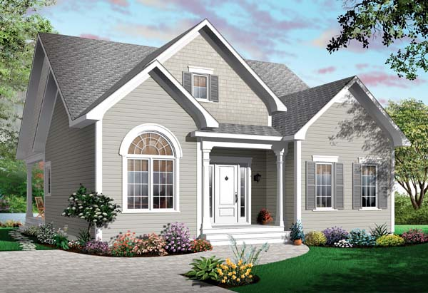 Bungalow House Plan 65537 Elevation