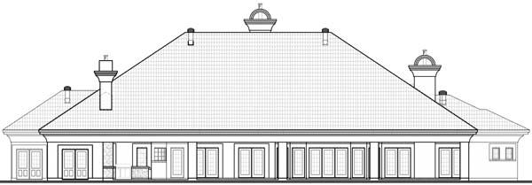 Florida Mediterranean House Plan 65539 Rear Elevation