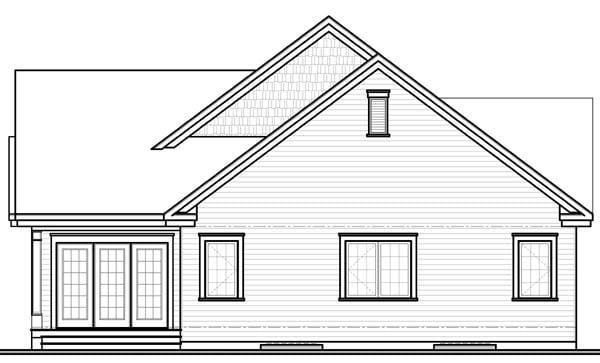 Bungalow House Plan 65540 Rear Elevation