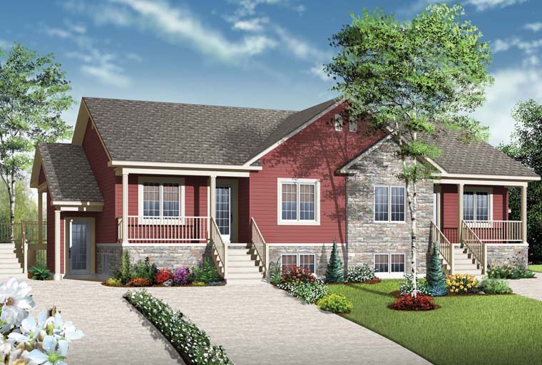 Country Multi-Family Plan 65546 Elevation