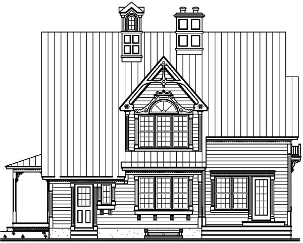 Country Traditional House Plan 65553 Rear Elevation