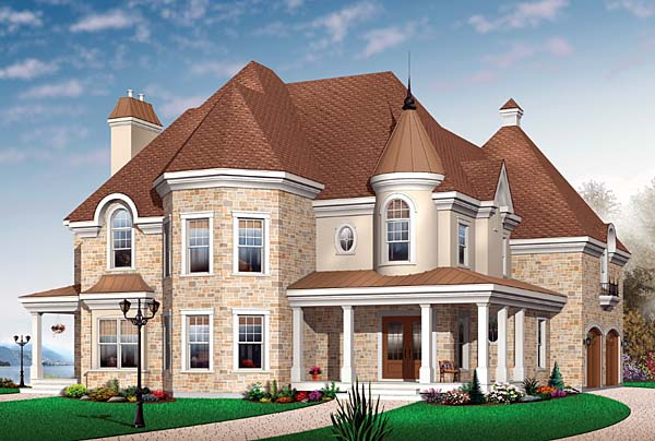 European Traditional House Plan 65563 Elevation