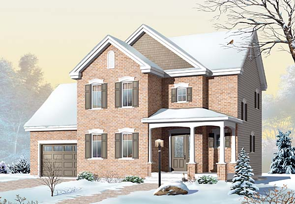 Country European House Plan 65565 Elevation
