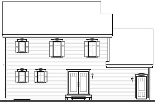 Country European House Plan 65565 Rear Elevation
