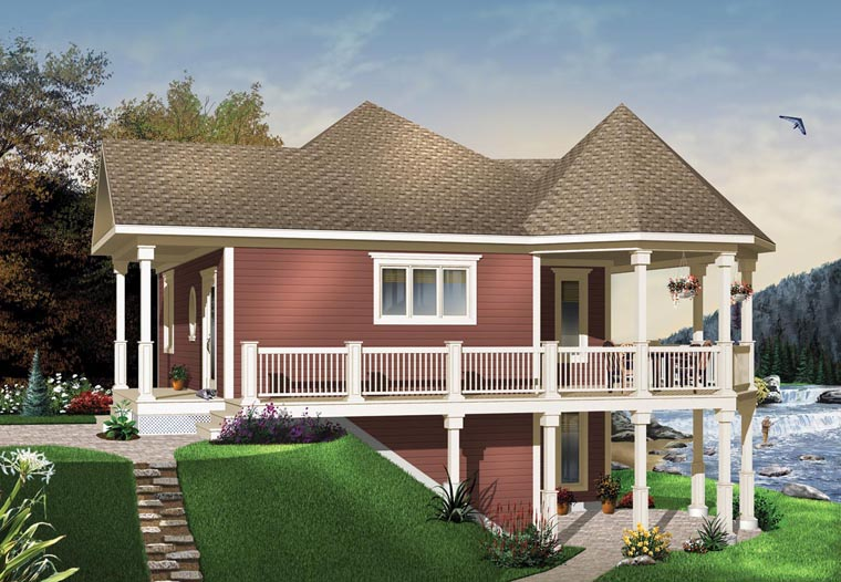Cottage Country Victorian House Plan 65566 Elevation
