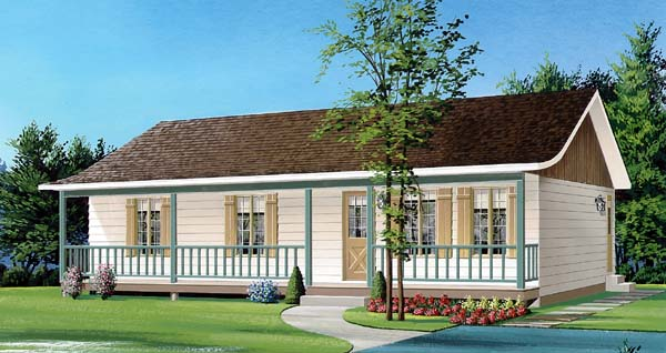 Bungalow Country Traditional House Plan 65570 Elevation
