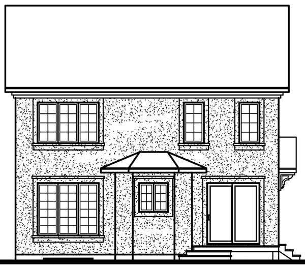 European Victorian House Plan 65573 Rear Elevation