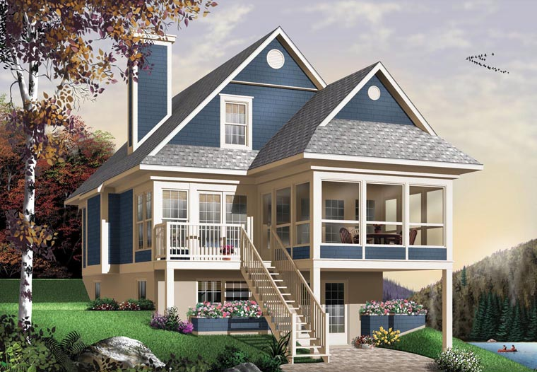Country House Plan 65576 Elevation