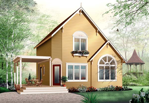 Traditional House Plan 65577 Elevation