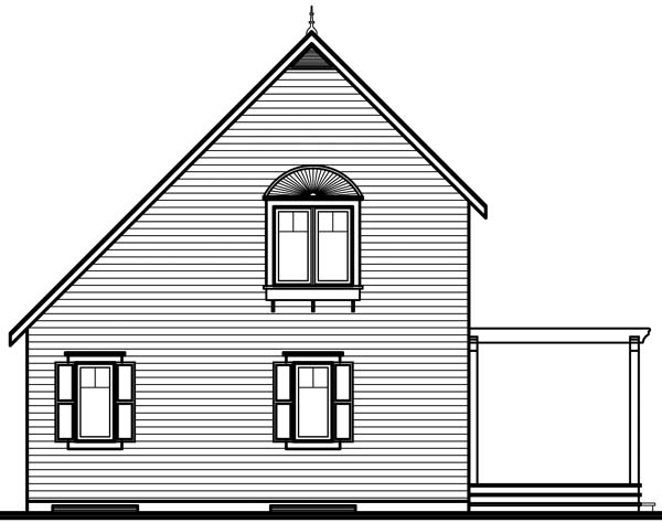Traditional House Plan 65577 Rear Elevation