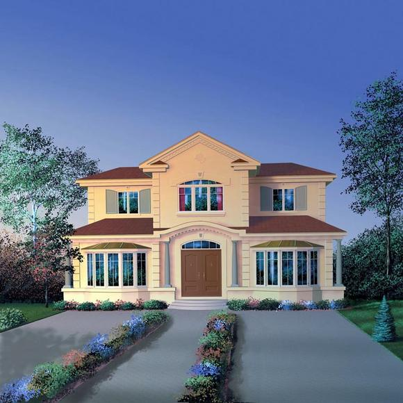 European, Florida House Plan 65587 with 4 Beds, 4 Baths Elevation