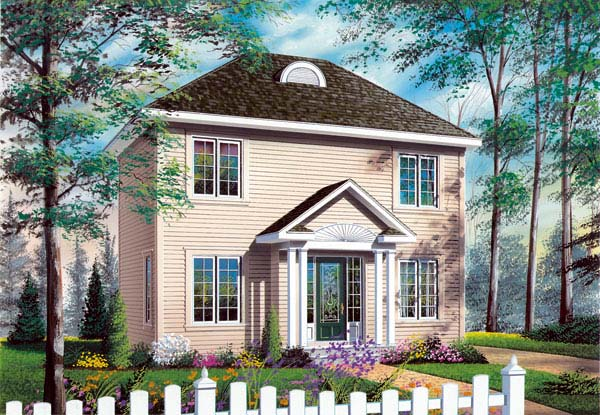 European Traditional House Plan 65588 Elevation