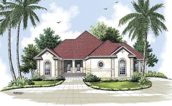Florida Mediterranean House Plan 65603 Elevation