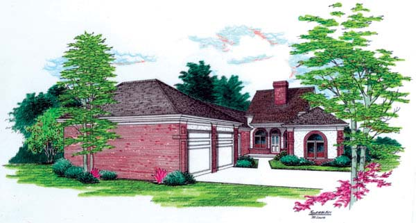 OneStory House Plan 65611