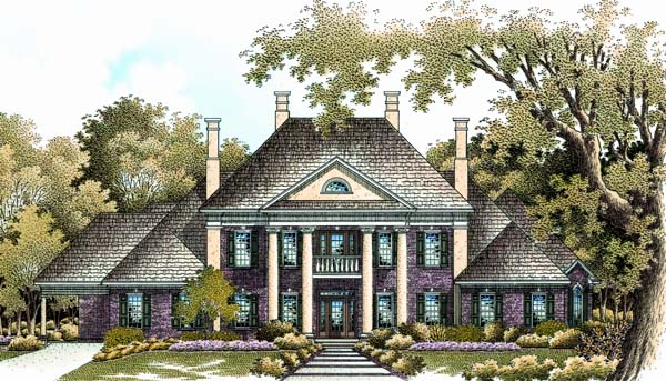 Colonial Plantation Southern House Plan 65614 Elevation