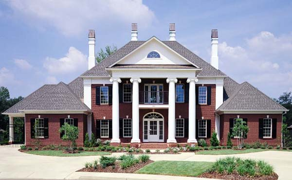 Colonial plantation southern house plan 65614 Southern plantation house plans