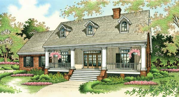 House plan 65622 at family home plans for One story colonial homes