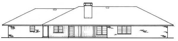 Prairie Style Southwest House Plan 65628 Rear Elevation