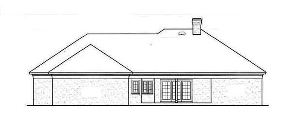 European House Plan 65629 Rear Elevation