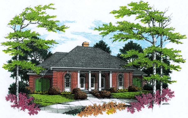 European House Plan 65630 Elevation