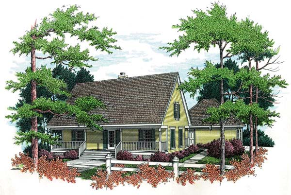 Cape Cod Country House Plan 65631 Elevation