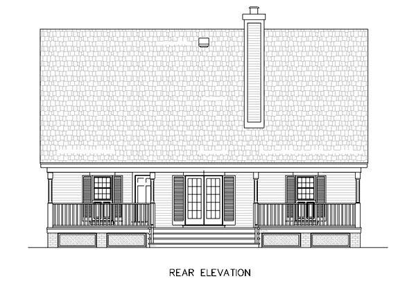 Cape Cod Country House Plan 65631 Rear Elevation