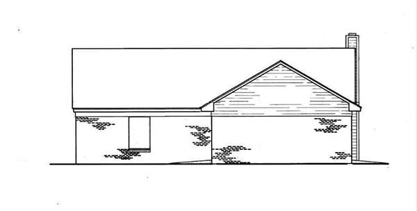 Cabin Ranch House Plan 65638 Rear Elevation