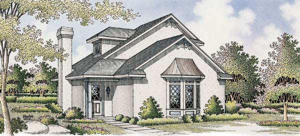 Bungalow, Mediterranean House Plan 65641 with 2 Beds, 2 Baths Elevation