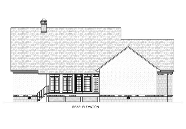 Country Southern House Plan 65647 Rear Elevation