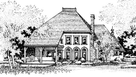 Mediterranean Victorian House Plan 65650 Rear Elevation