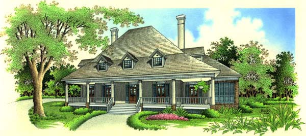 Country Southern House Plan 65656 Elevation