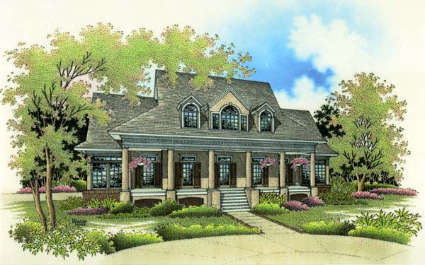 Colonial House Plan 65657 Elevation
