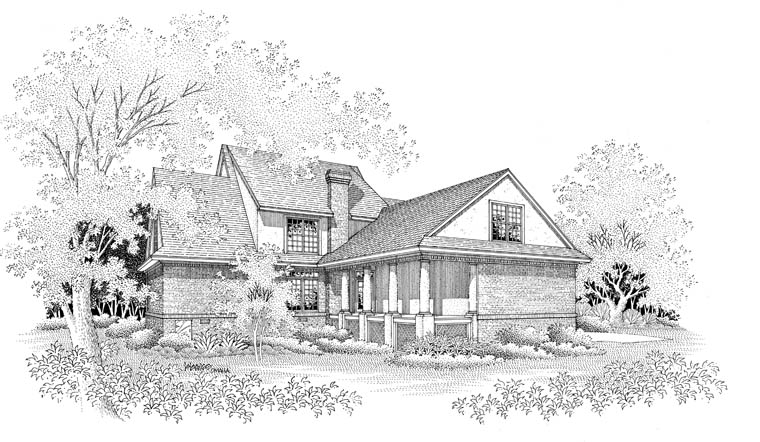 Colonial House Plan 65657 Rear Elevation