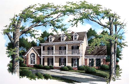 Colonial Southern House Plan 65661 Elevation