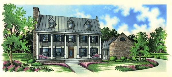 Colonial Southern House Plan 65662 Elevation